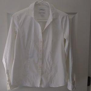 Charter Club white button down shirt Size 4